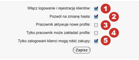 Rejestracja klientów